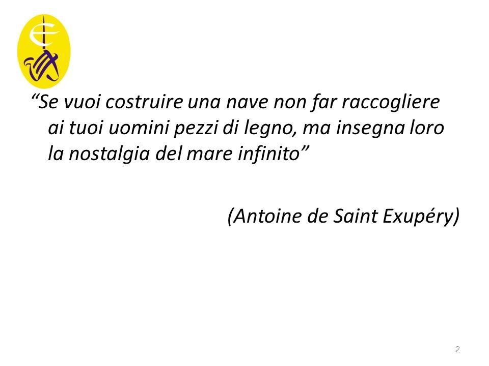 """""""Se vuoi costruire una nave non far raccogliere ai tuoi uomini pezzi di legno, ma insegna loro la nostalgia del mare infinito"""" (Antoine de Saint Exupé"""