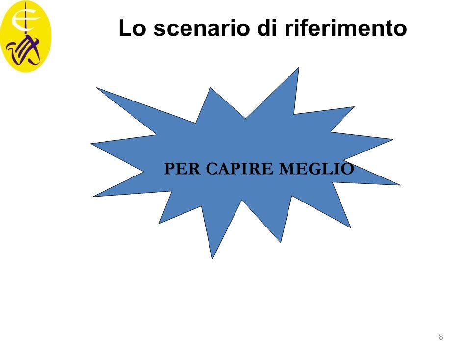 PER CAPIRE MEGLIO Lo scenario di riferimento 8