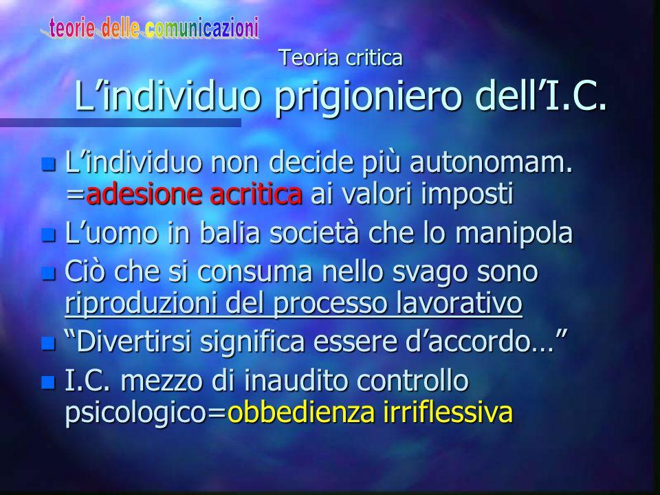 Teoria critica Carattere coercitivo dell'I.C.