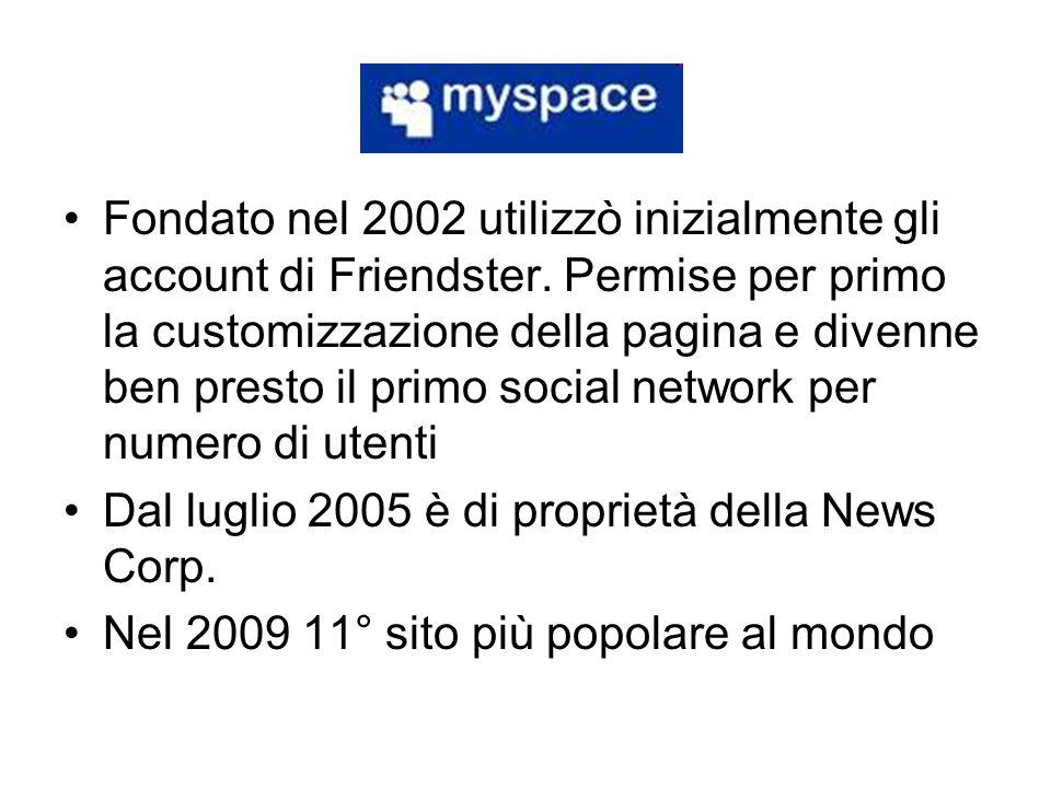 Fondato nel 2002 utilizzò inizialmente gli account di Friendster. Permise per primo la customizzazione della pagina e divenne ben presto il primo soci