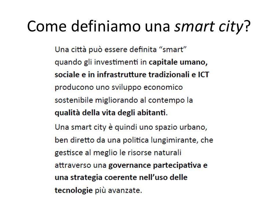 Come definiamo una smart city?