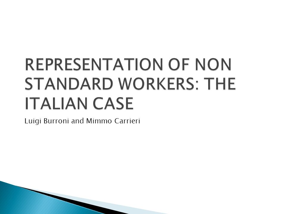 The focus of this paper is on:  Workers with temporary contracts  'permanent ' Self-employed (with positions formally autonomous but effectively subject to permanent employment conditions ) They can be defined as 'weak workers' because they have low dismissal protection, low wages, and low unemployment, pension and other social security entitlements