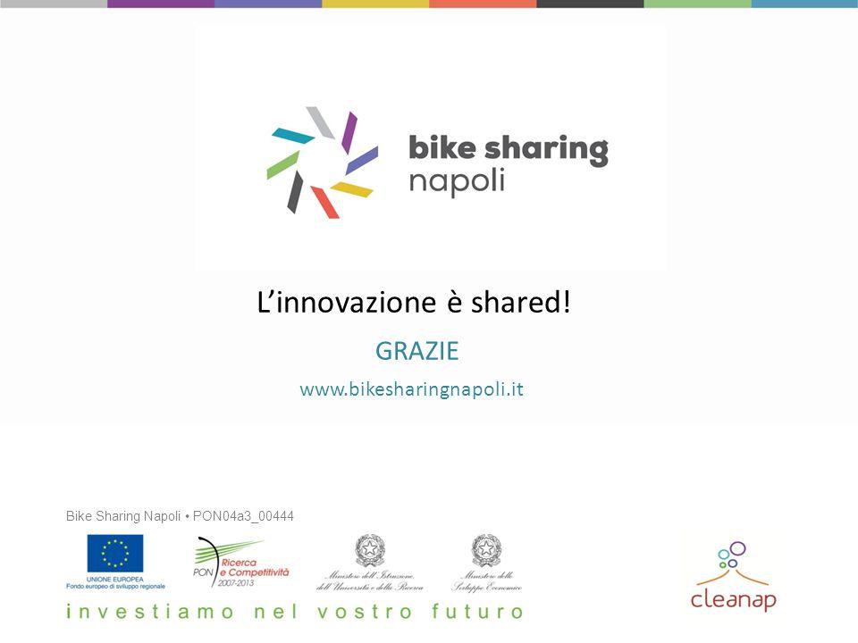 Bike Sharing Napoli PON04a3_00444 GRAZIE www.bikesharingnapoli.it L'innovazione è shared!