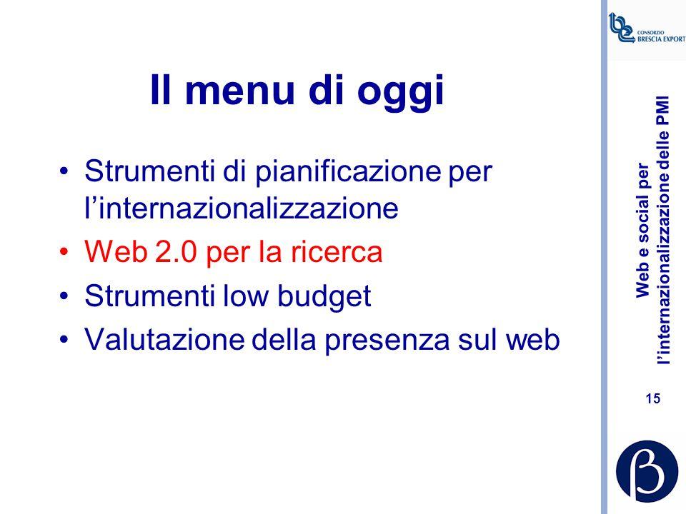 Web e social per l'internazionalizzazione delle PMI 14 Foto thttp://blog.adminitrack.comhttp://blog.adminitrack.com Marketing internazionale e analisi