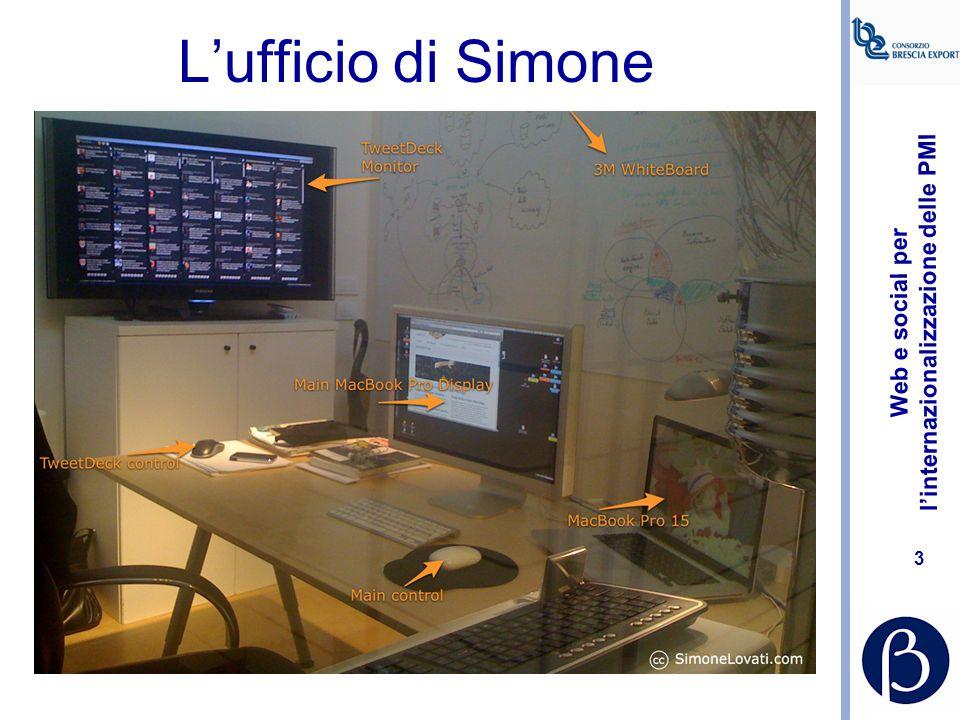 Web e social per l'internazionalizzazione delle PMI 3 L'ufficio di Simone