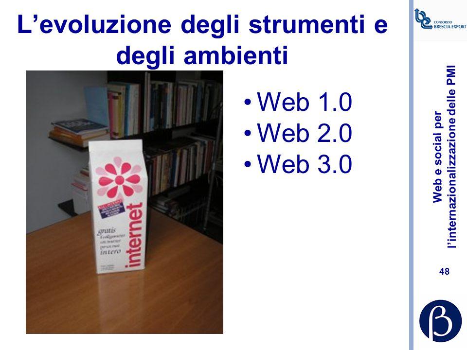 Web e social per l'internazionalizzazione delle PMI 47 Strumenti Web