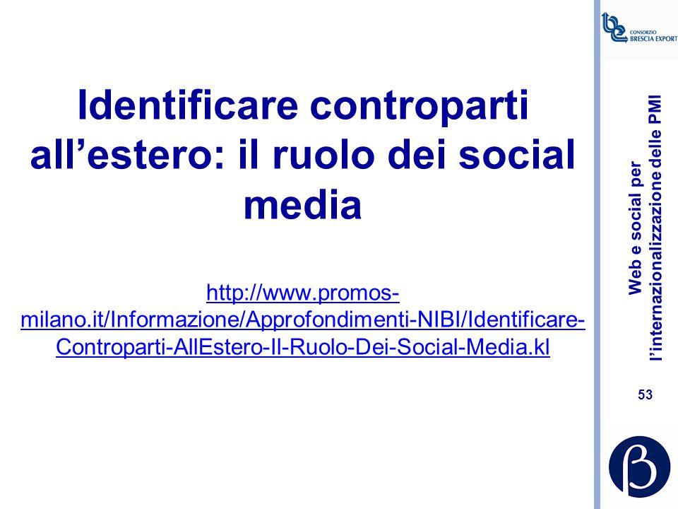 Web e social per l'internazionalizzazione delle PMI 52 Linkedin