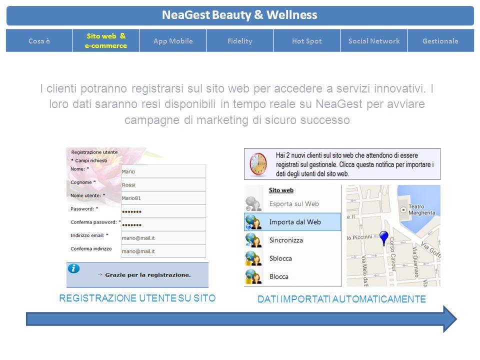 I clienti potranno registrarsi sul sito web per accedere a servizi innovativi.