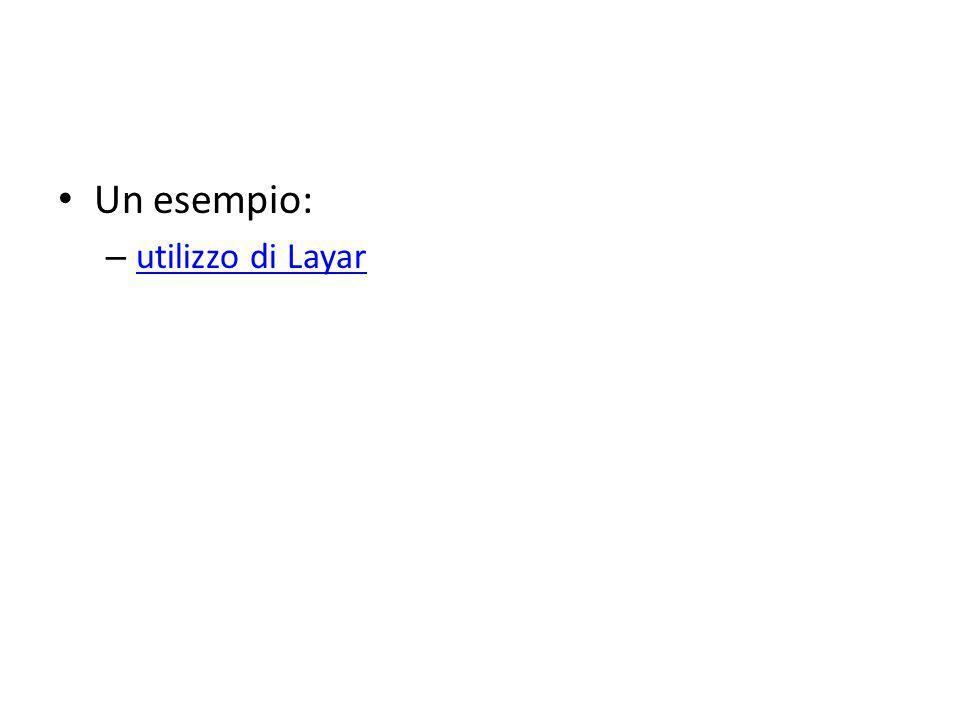 Un esempio: – utilizzo di Layar utilizzo di Layar