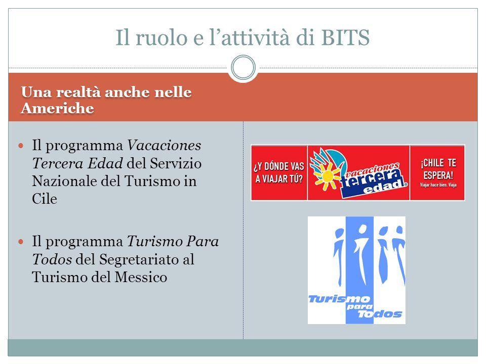 Una realtà anche nelle Americhe Il programma Vacaciones Tercera Edad del Servizio Nazionale del Turismo in Cile Il programma Turismo Para Todos del Segretariato al Turismo del Messico Il ruolo e l'attività di BITS