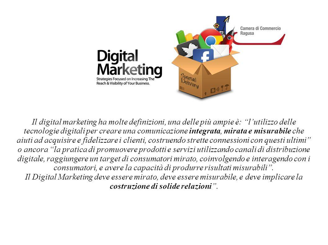 """Il digital marketing ha molte definizioni, una delle più ampie è: """"l'utilizzo delle tecnologie digitali per creare una comunicazione integrata, mirata"""