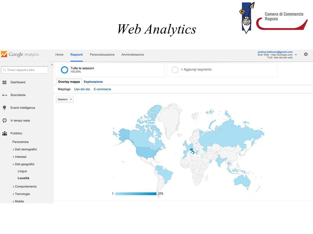 """Web Analytics Strumenti per il monitoraggio del traffico e delle performance del proprio sito. Si definisce """"online monitoring"""" l'attività di ricerca"""