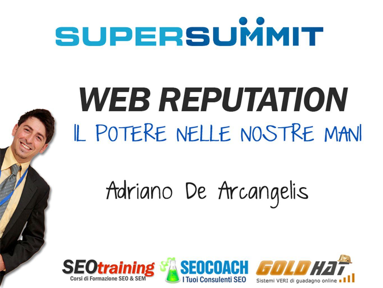 Chi parlerà oggi 2 Adriano De Arcangelis CEO di DEA Marketing S.r.l., consulente SEO,DEA Marketing S.r.l.