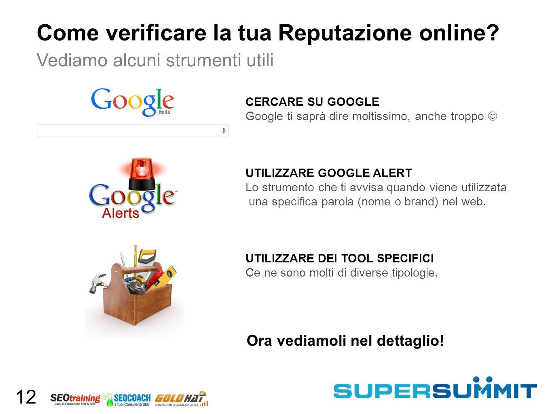 Come verificare la tua Reputazione online.