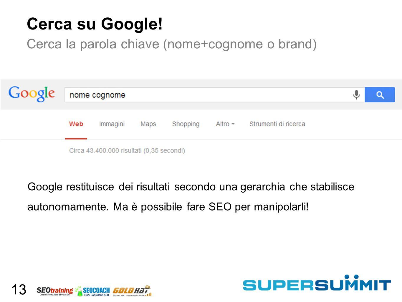 Cerca su Google.