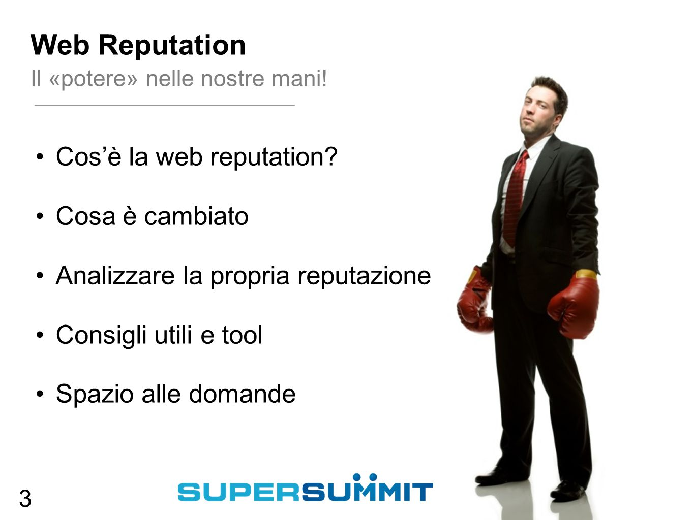 Cos'è la web reputation.