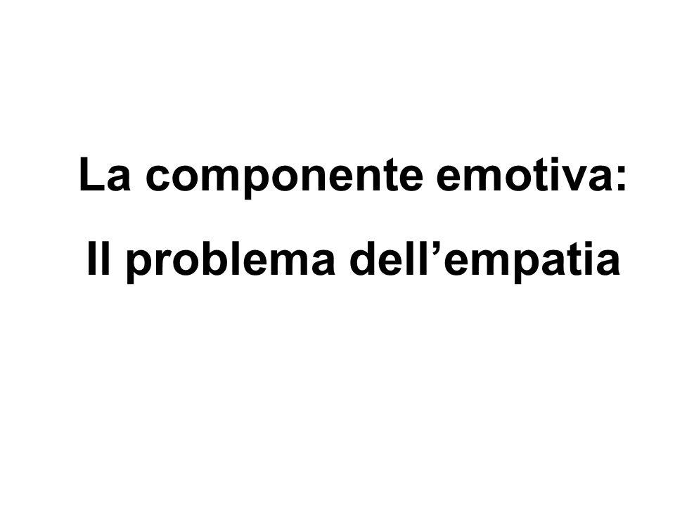 La componente emotiva: Il problema dell'empatia