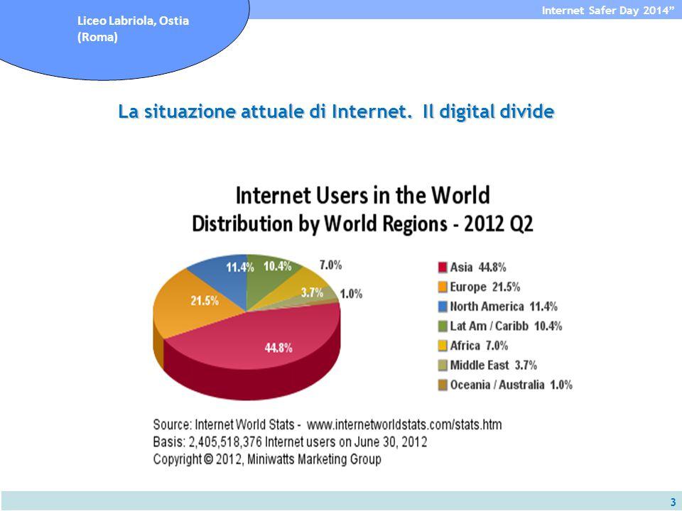 3 Internet Safer Day 2014 Liceo Labriola, Ostia (Roma) La situazione attuale di Internet.