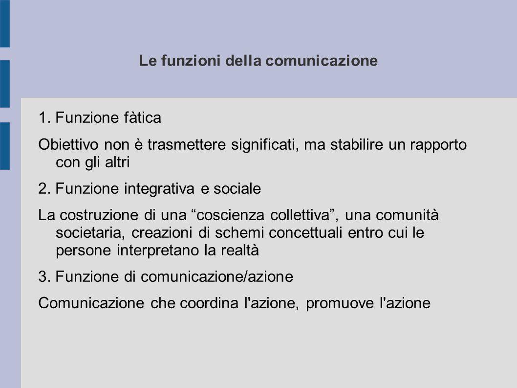 Le funzioni della comunicazione 1.
