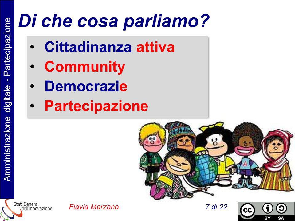Amministrazione digitale - Partecipazione Flavia Marzano 7 di 22 Di che cosa parliamo.