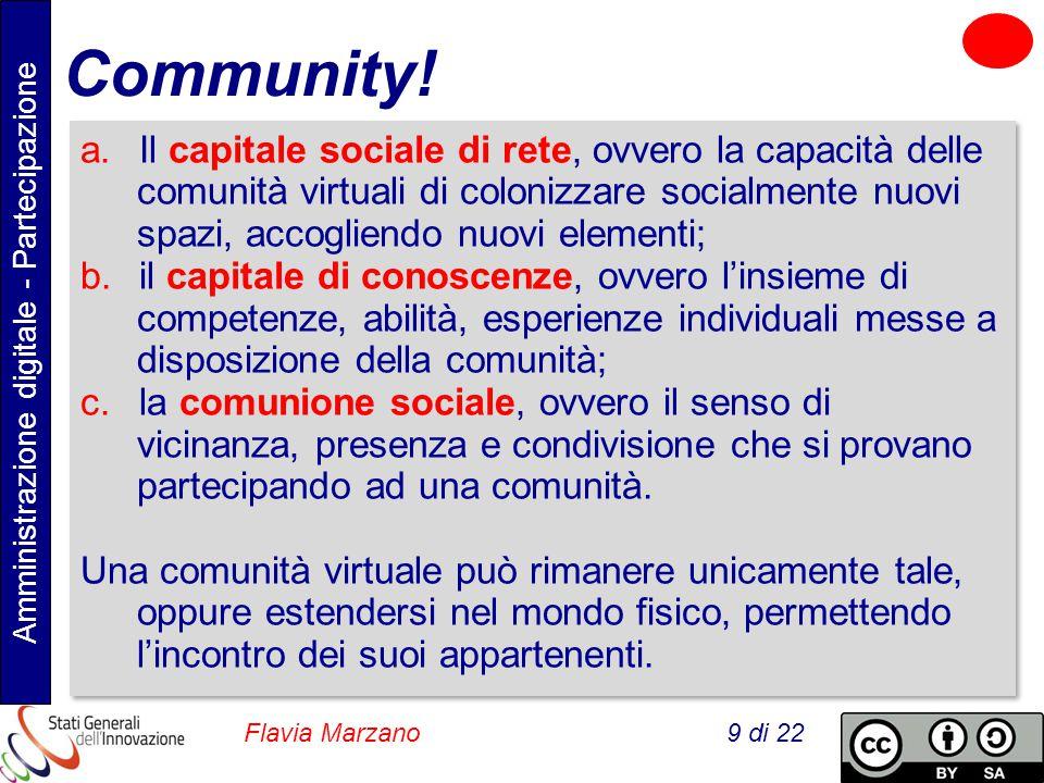 Amministrazione digitale - Partecipazione Flavia Marzano 9 di 22 Community.