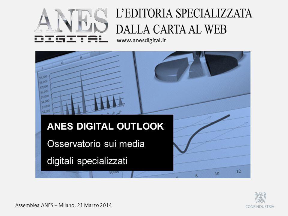 ANES DIGITAL OUTLOOK Osservatorio sui media digitali specializzati www.anesdigital.it Assemblea ANES – Milano, 21 Marzo 2014