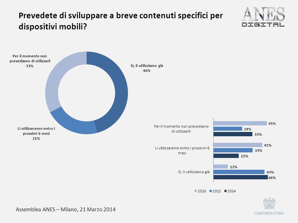 Assemblea ANES – Milano, 21 Marzo 2014 Effettuate una profilazione degli utenti sulla base dei dati di registrazione?