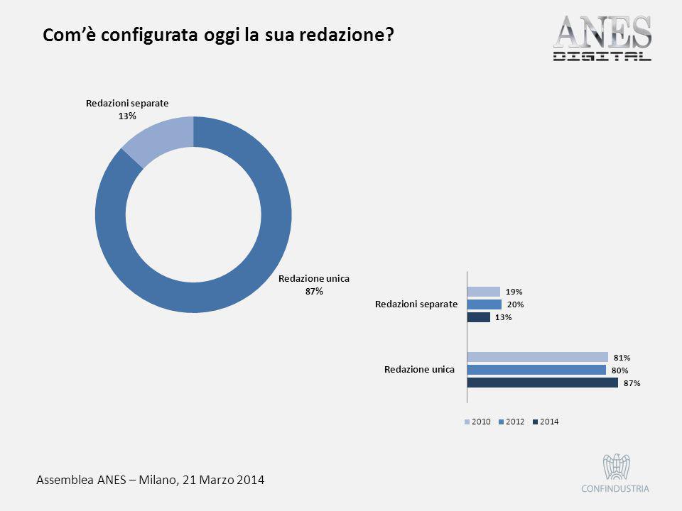 Assemblea ANES – Milano, 21 Marzo 2014 Com'è strutturata oggi la sua rete di vendita di pubblicità?