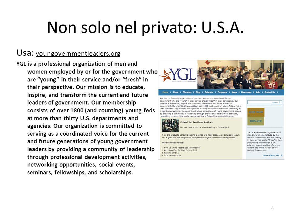 Non solo nel privato: U.S.A.