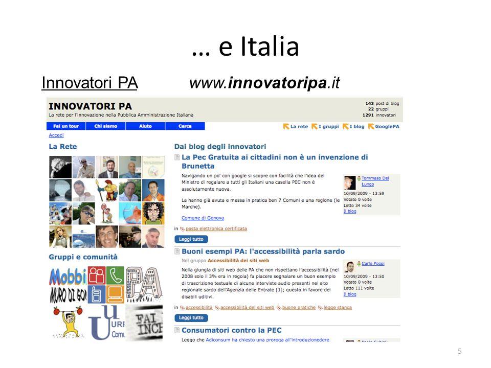 … e Italia Innovatori PA www.innovatoripa.it 5