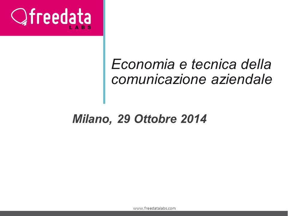 Economia e tecnica della comunicazione aziendale Milano, 29 Ottobre 2014 www.freedatalabs.com