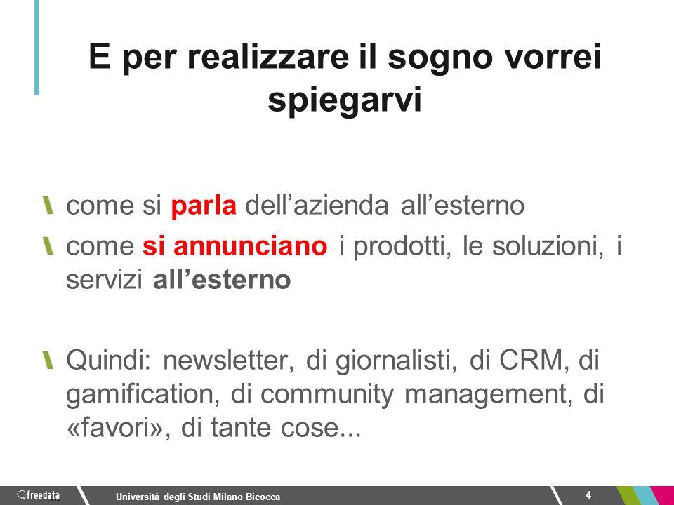 come si parla dell'azienda all'esterno come si annunciano i prodotti, le soluzioni, i servizi all'esterno Quindi: newsletter, di giornalisti, di CRM,