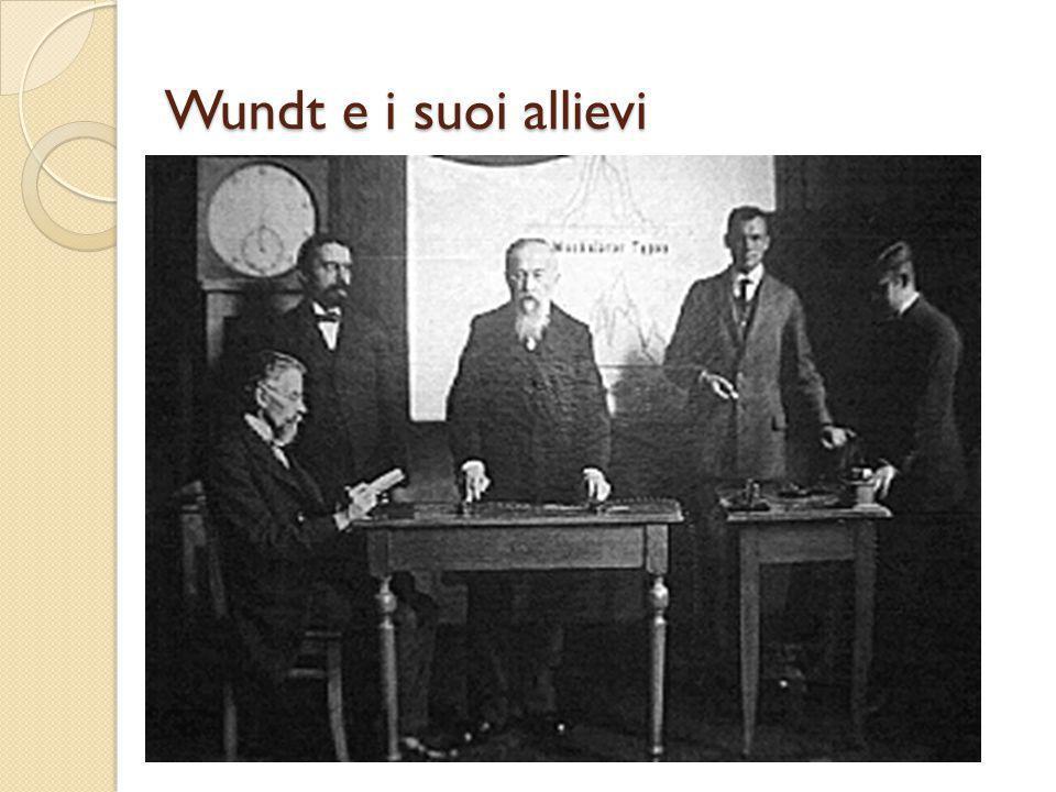 Wundt e i suoi allievi