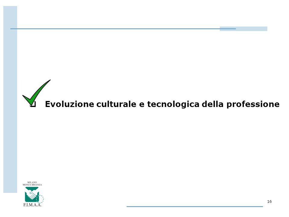 16  Evoluzione culturale e tecnologica della professione