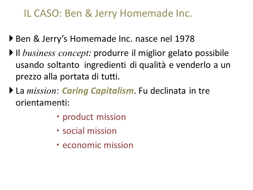  Ben & Jerry's Homemade Inc.