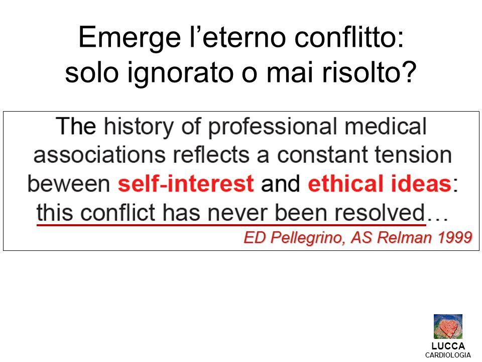 LUCCA CARDIOLOGIA - Se l etica del razionamento appartiene alla politica sanitaria, l etica della riduzione degli sprechi è indissolubilmente legata alla professionalità dei medici.