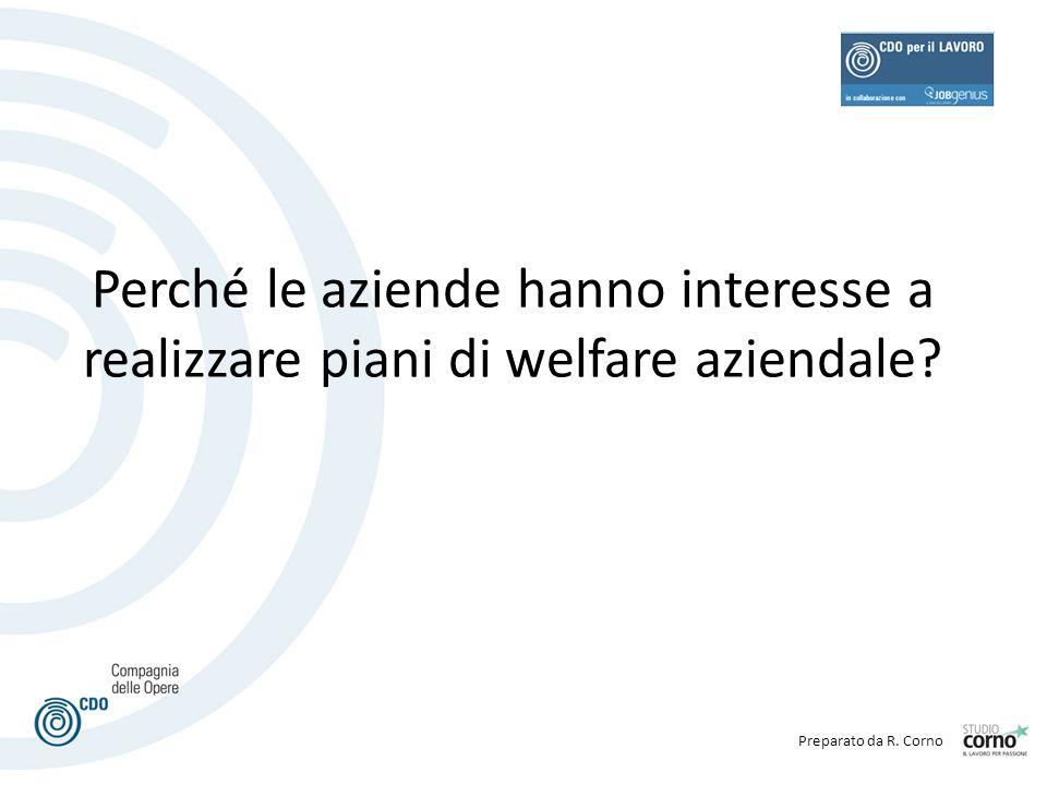 Preparato da R. Corno Perché le aziende hanno interesse a realizzare piani di welfare aziendale?