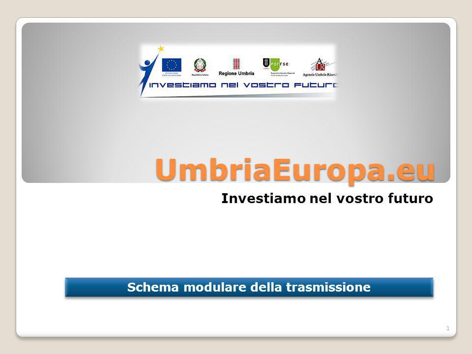 UmbriaEuropa.eu Investiamo nel vostro futuro Schema modulare della trasmissione 1