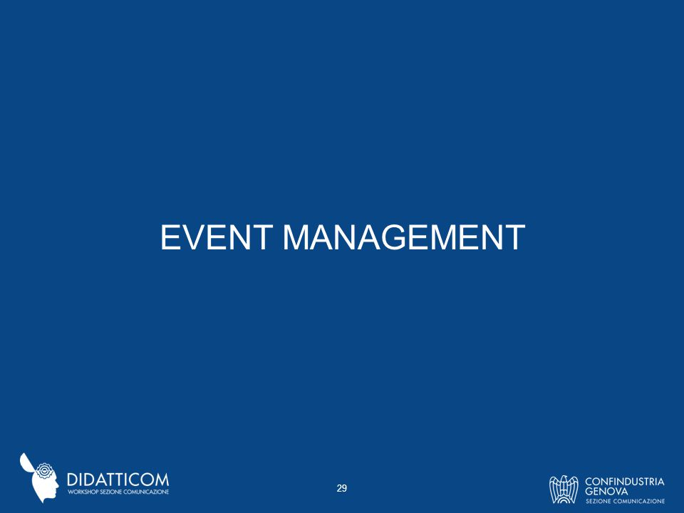 EVENT MANAGEMENT 29
