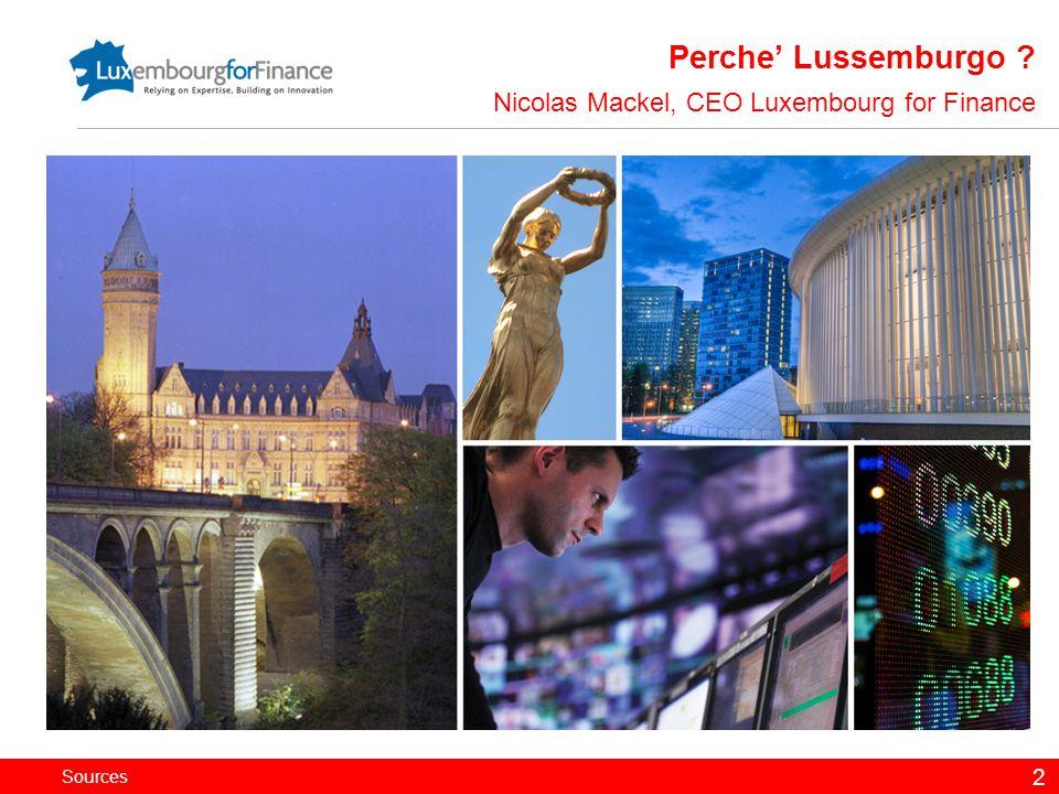 Sources 13 La Borsa di Lussemburgo Antoine Wagner, Senior Communication Manager