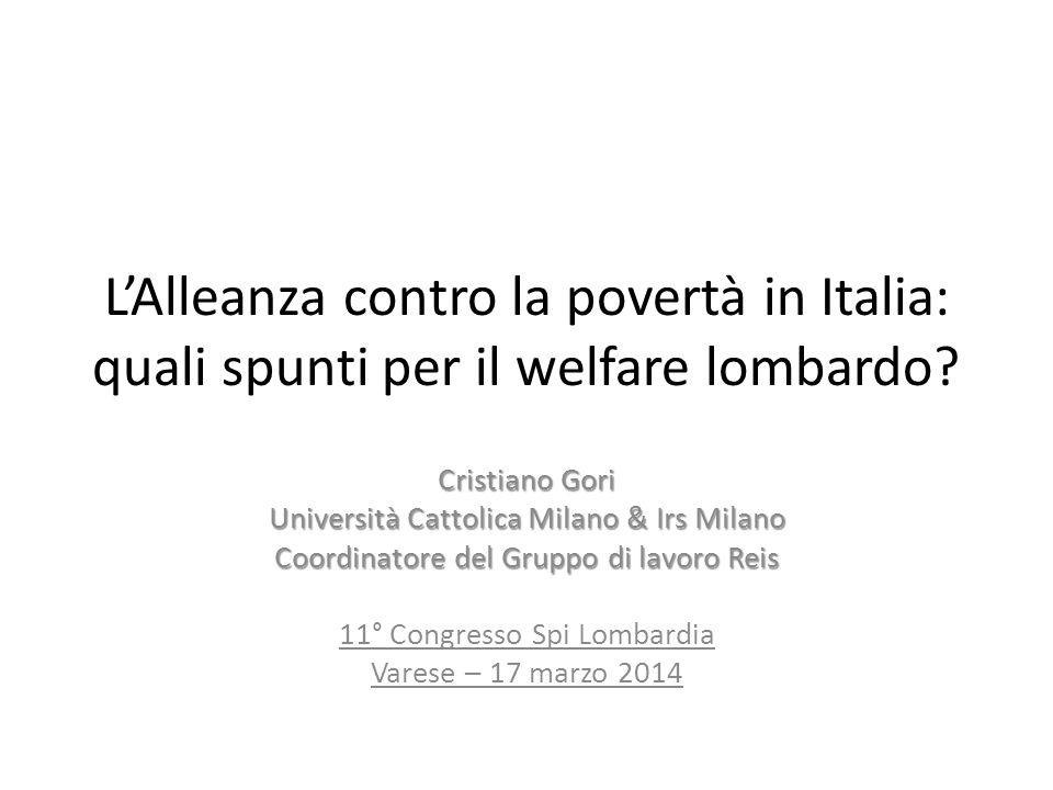L'Alleanza contro la povertà in Italia: quali spunti per il welfare lombardo.