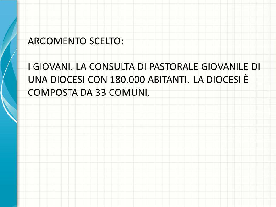 ARGOMENTO SCELTO: I GIOVANI.