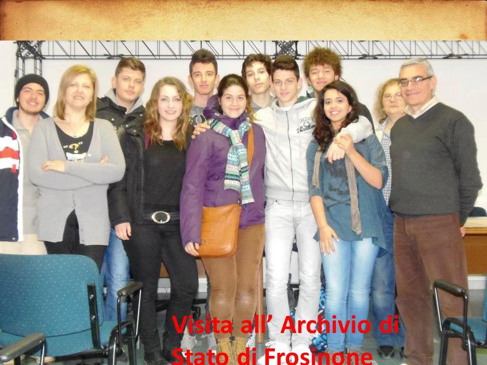 Visita all' Archivio di Stato di Frosinone