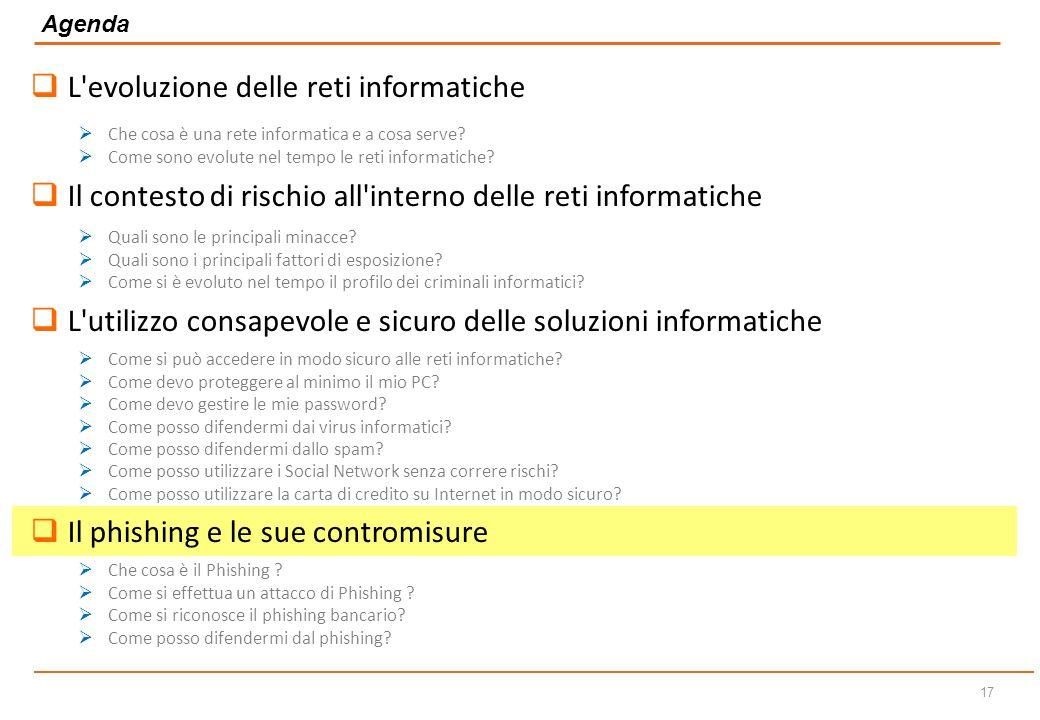 16 Non inserire mai i dati della carta di credito su siti non conosciuti o non protetti (verificare presenza del lucchetto sulla barra degli indirizzi