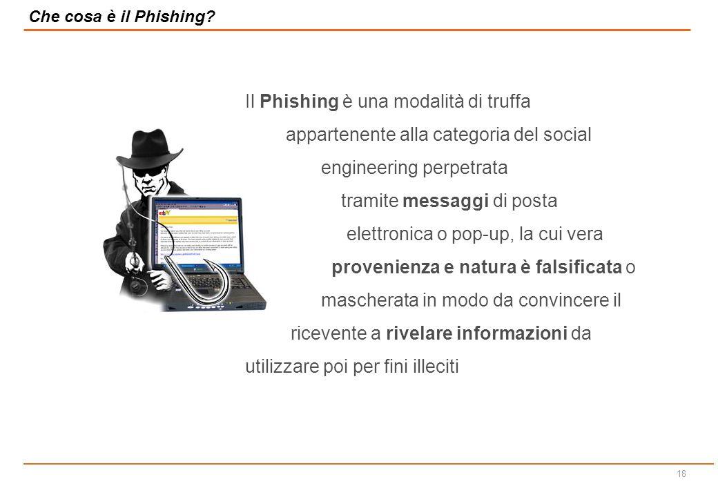 17 Agenda  L evoluzione delle reti informatiche  Il contesto di rischio all interno delle reti informatiche  L utilizzo consapevole e sicuro delle soluzioni informatiche  Il phishing e le sue contromisure  Che cosa è una rete informatica e a cosa serve.