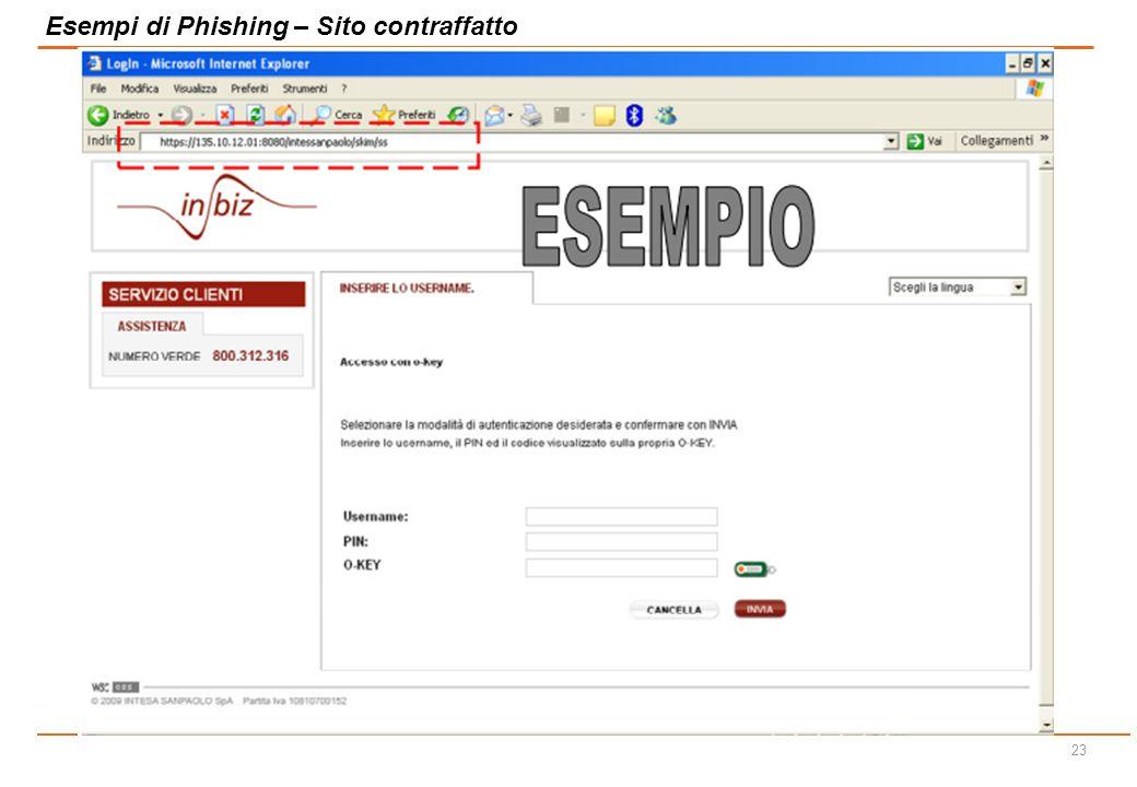 22 Esempi di Phishing – e-mail contraffatte