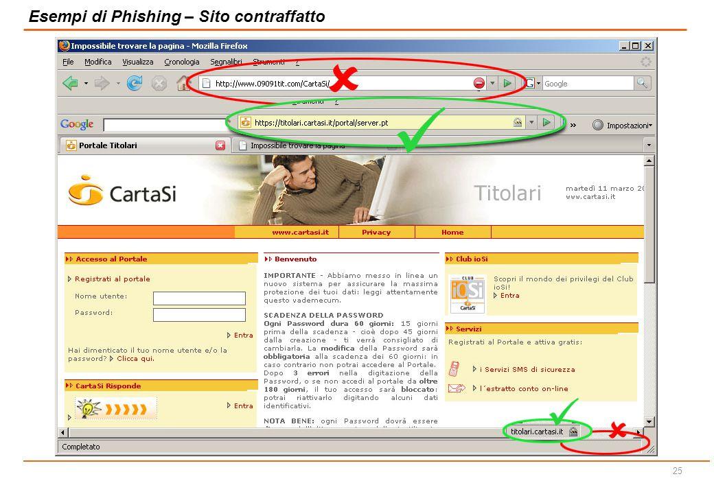 24 Esempi di Phishing – Sito contraffatto