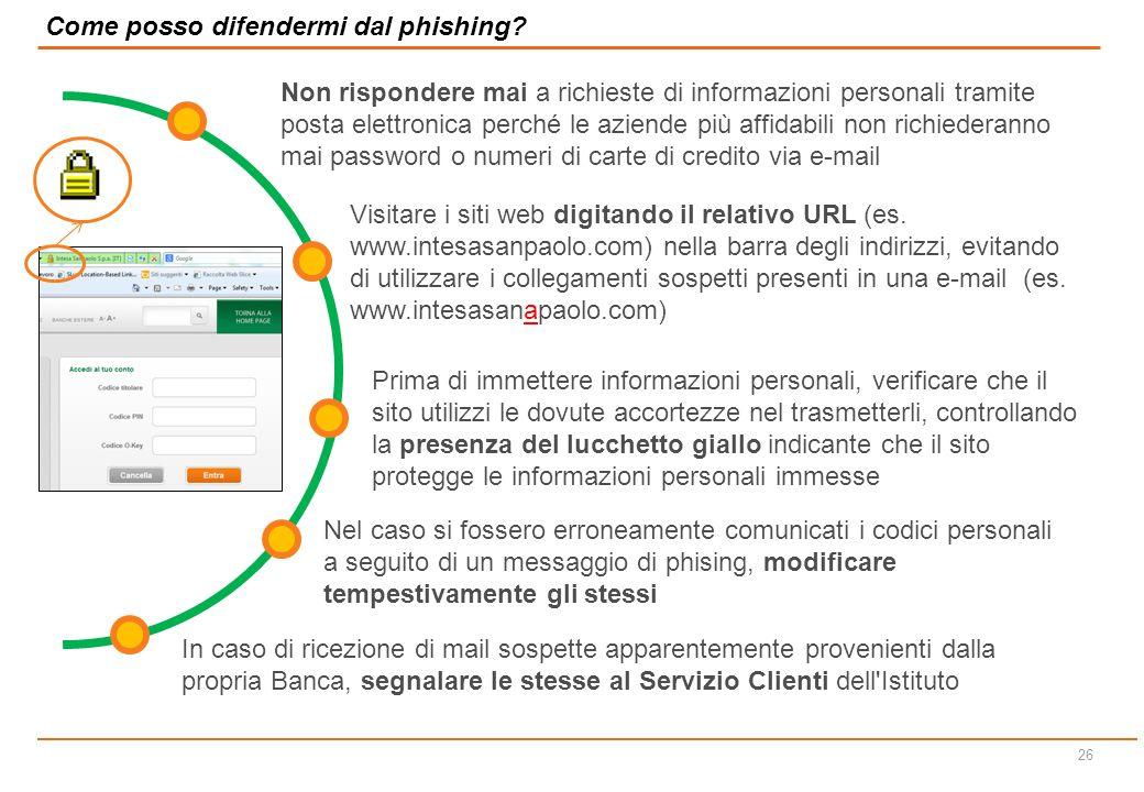 25 Esempi di Phishing – Sito contraffatto