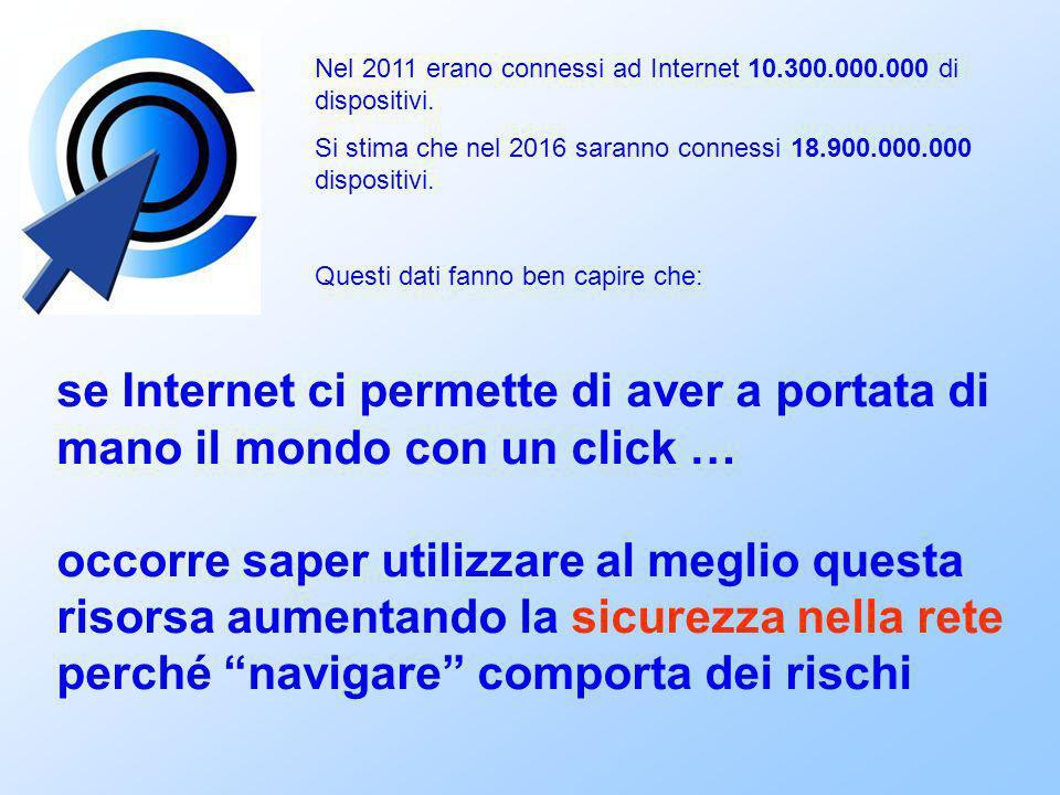 Nel 2011 erano connessi ad Internet 10.300.000.000 di dispositivi. Si stima che nel 2016 saranno connessi 18.900.000.000 dispositivi. Questi dati fann