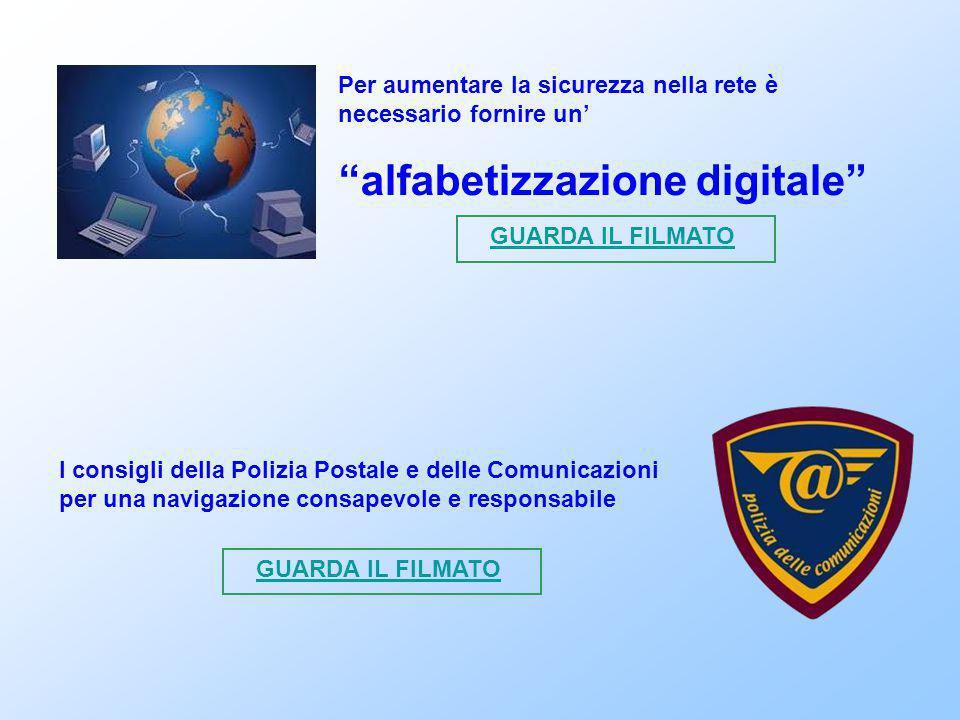 """Per aumentare la sicurezza nella rete è necessario fornire un' """"alfabetizzazione digitale"""" GUARDA IL FILMATO I consigli della Polizia Postale e delle"""